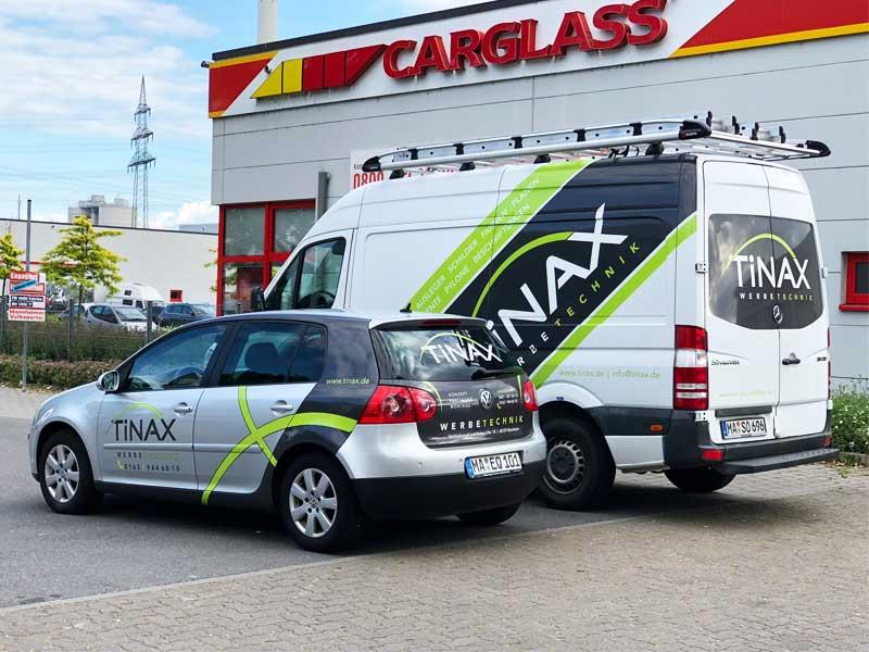 Fahrzeugbeschriftung Tinax Werbetechnik