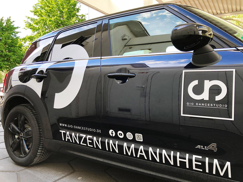 Fahrzeugbeschriftung Gio Tanzschule Mannheim