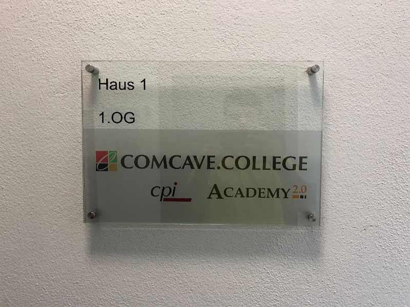 Plexischild Comcave College