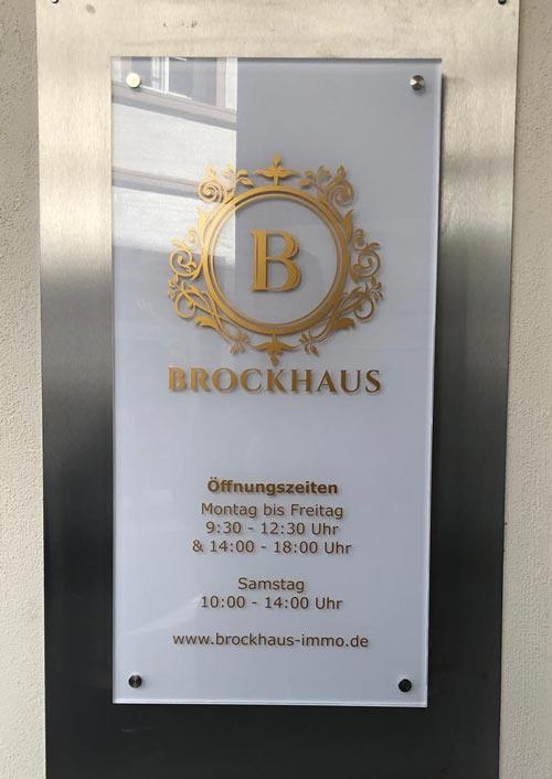 Außenschild Brockhaus